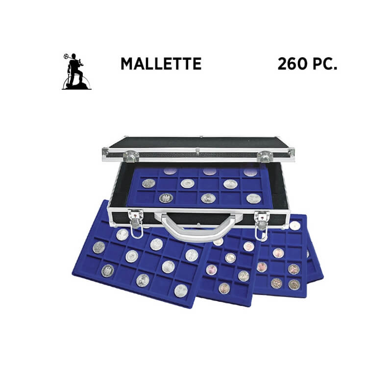Mallette numismatique Bleu