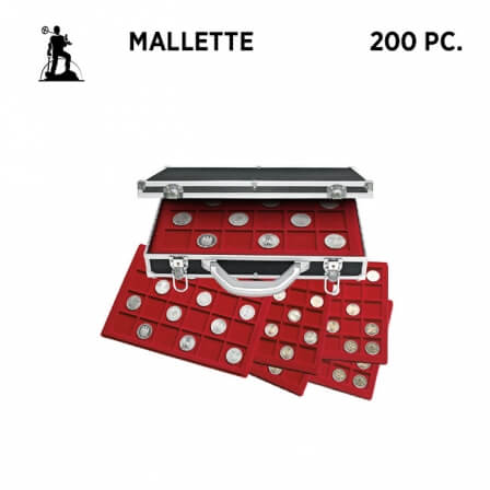 Mallette numismatique Rouge