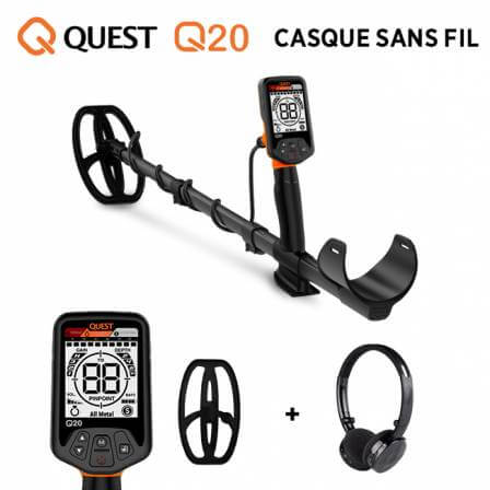 QUEST Q20 Casque sans fil
