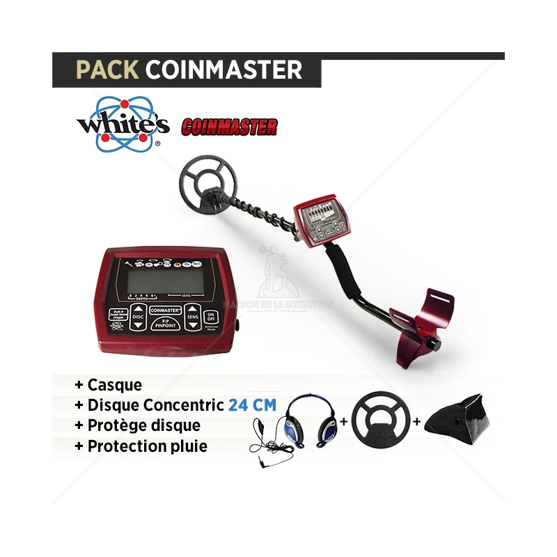 Pack COINMASTER : Casque + Protège disque + Protection pluie
