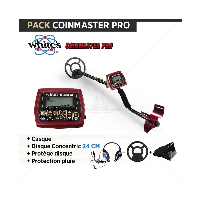 Pack COINMASTER PRO : Casque + Protège disque + protection pluie